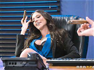 butt tearing up mummy Ariella Ferrera in the office