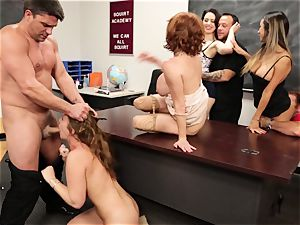 Classroom blasting session with Veronica Avluv and Maddy OReilly