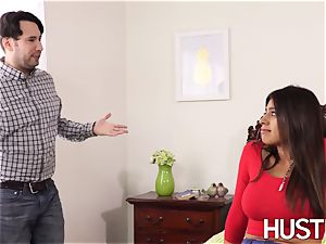 supah red-hot stepsis Ella Knox arched over and pounded rock-hard