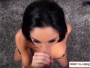 very first Class POV-Big culo Ava Addams blowing a enormous man-meat