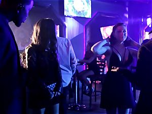 Asa Akira blows one ginormous bbc in disco