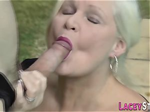 granny loves anal invasion the hard cock of pool cleaner