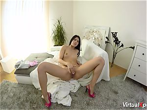 fur covered big-titted Angel Wicky on webcam