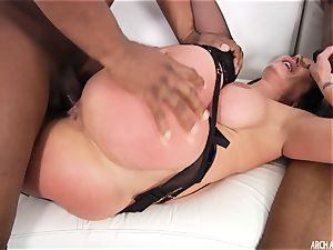 Kendra enthusiasm porked by 2 enormous dark-hued shafts