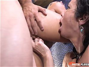 Veronica Avluv gets involved with her stepdaughters kinky fuckfest idea