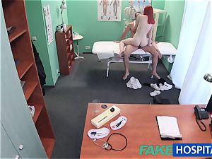 FakeHospital nice ginger-haired rides doctor for cash