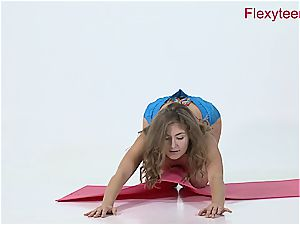 nimble honey Anka displays nude gymnastics