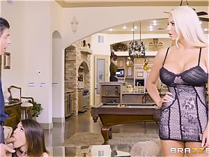 cum-swapping lovelies Adriana Chechik and Nicolette Shea pulverized deep